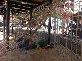 Imagination Playground sandbox in NYC