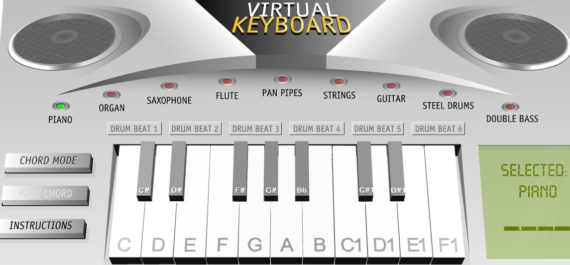 Παίξε μουσική με virtual piano...