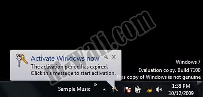 Cara Menghilangkan This Copy Of Windows Is Not Genuine Windows 7