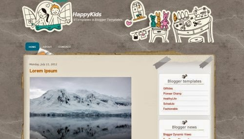 HappyKids - Free Blogger Template