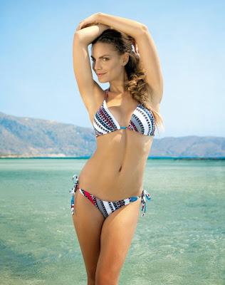 Nina Senicar hot body in Bonatti sexy bikini model