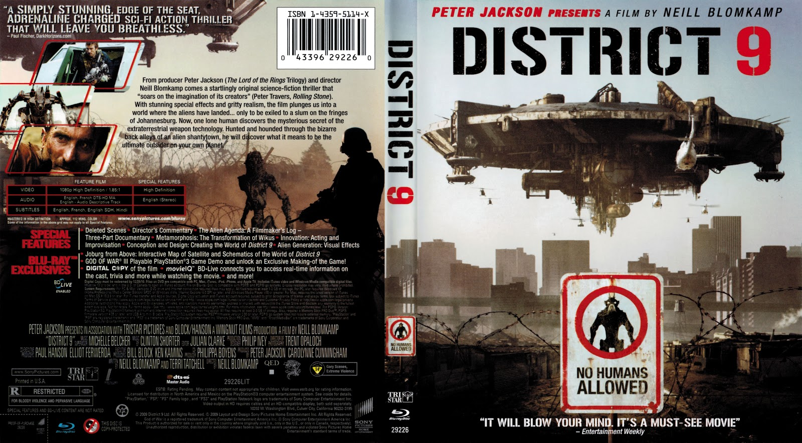 Capa Bluray District 9