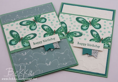 Watercolor Wings Birthday Cards - check them out here