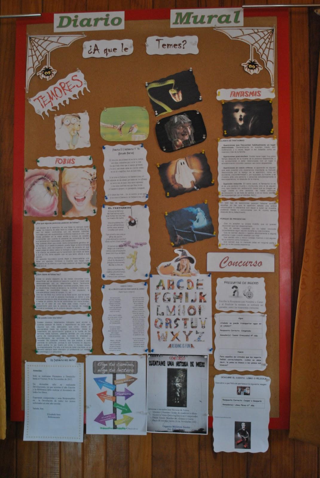 Experiencias de una bibliotecaria noviembre 2012 for Contenido de un periodico mural