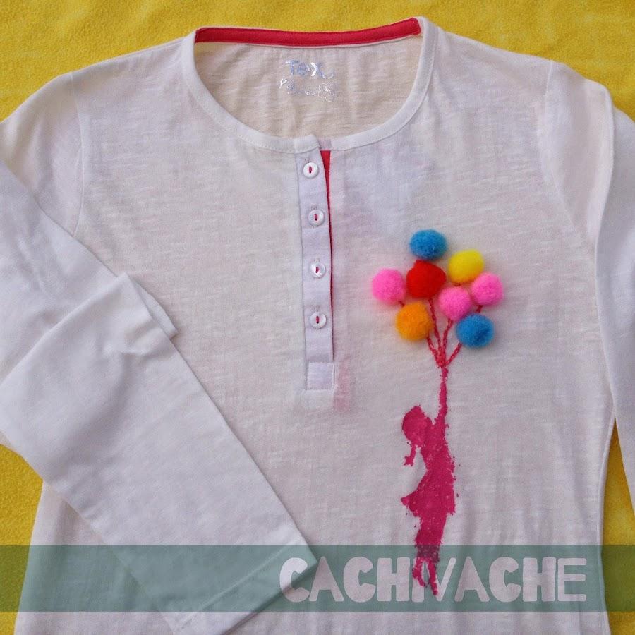 Camisetas con pompones - Decorar camisetas basicas ...