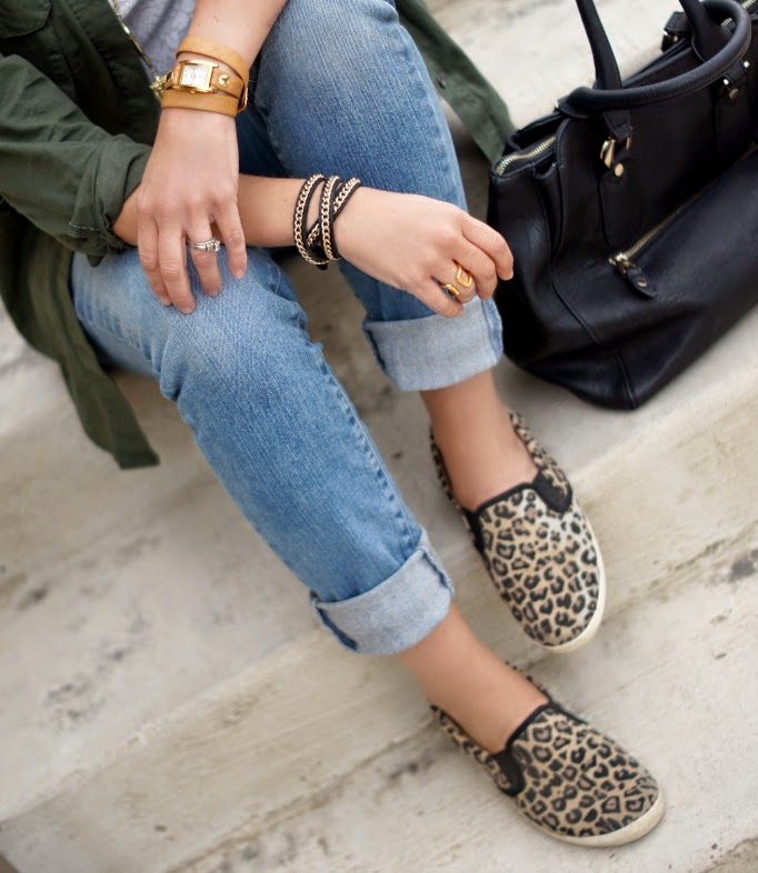 Leopard Slip On Sneakers