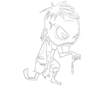 #2 Zombie Coloring Page