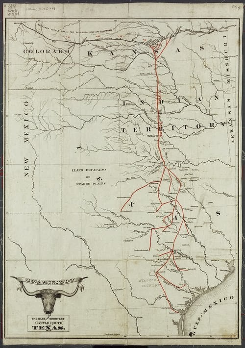 Just A Marine Chisholm Trail - Chisholm trail map