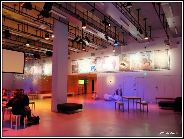 Bar du Plateau Média café Gaité Lyrique design musée des arts numériques