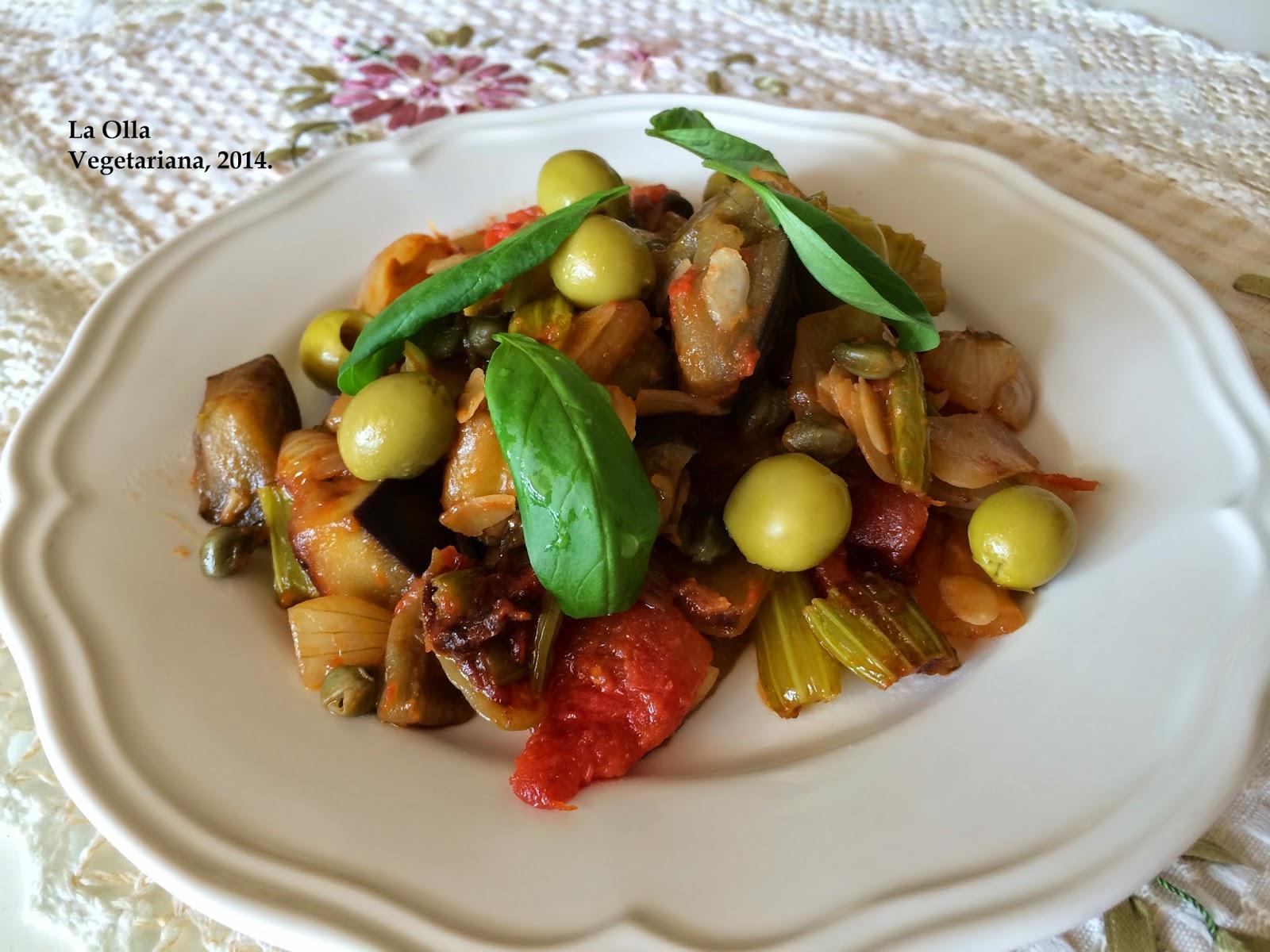 La olla vegetariana caponata aut ntica cocina for Cocina mediterranea