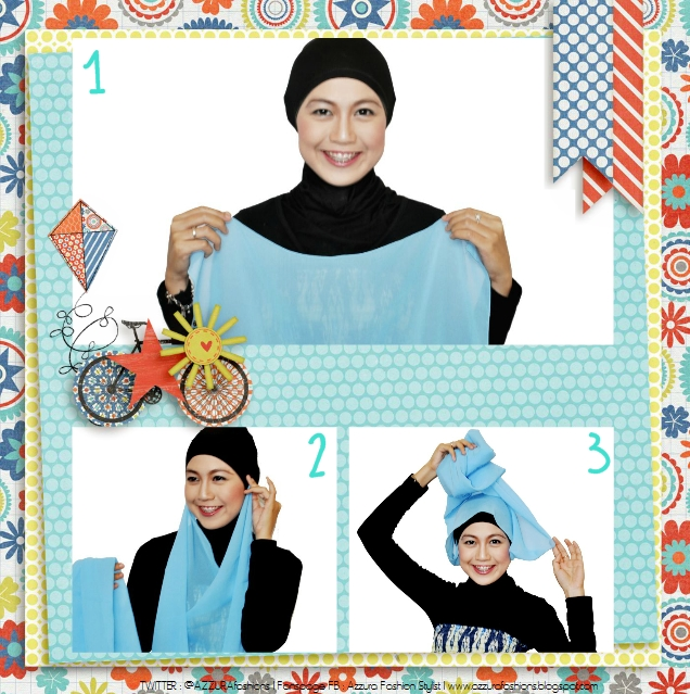 Hijab Tutorial by Azzura Fashion Stylist