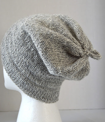 hemmed brim slouchy hat for sale at https://www.etsy.com/shop/JeannieGrayKnits