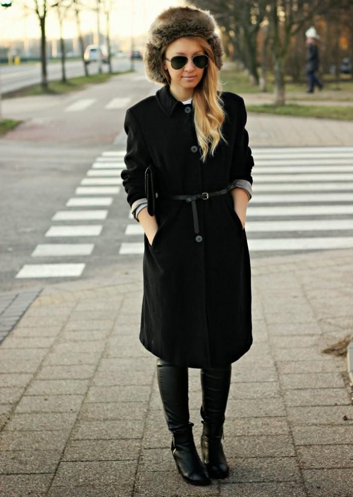 Futrzana czapka idealna na zimę