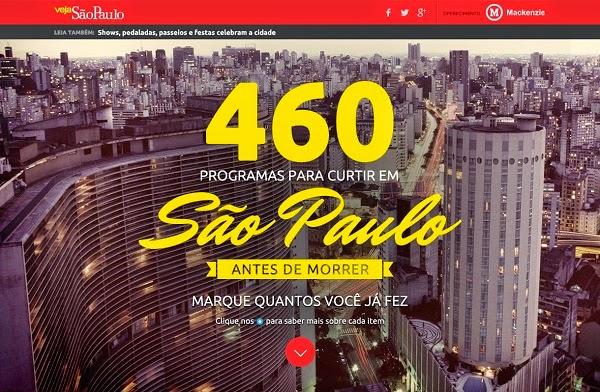 Você conhece a sua cidade? (ou 460 programas para fazer em São Paulo)