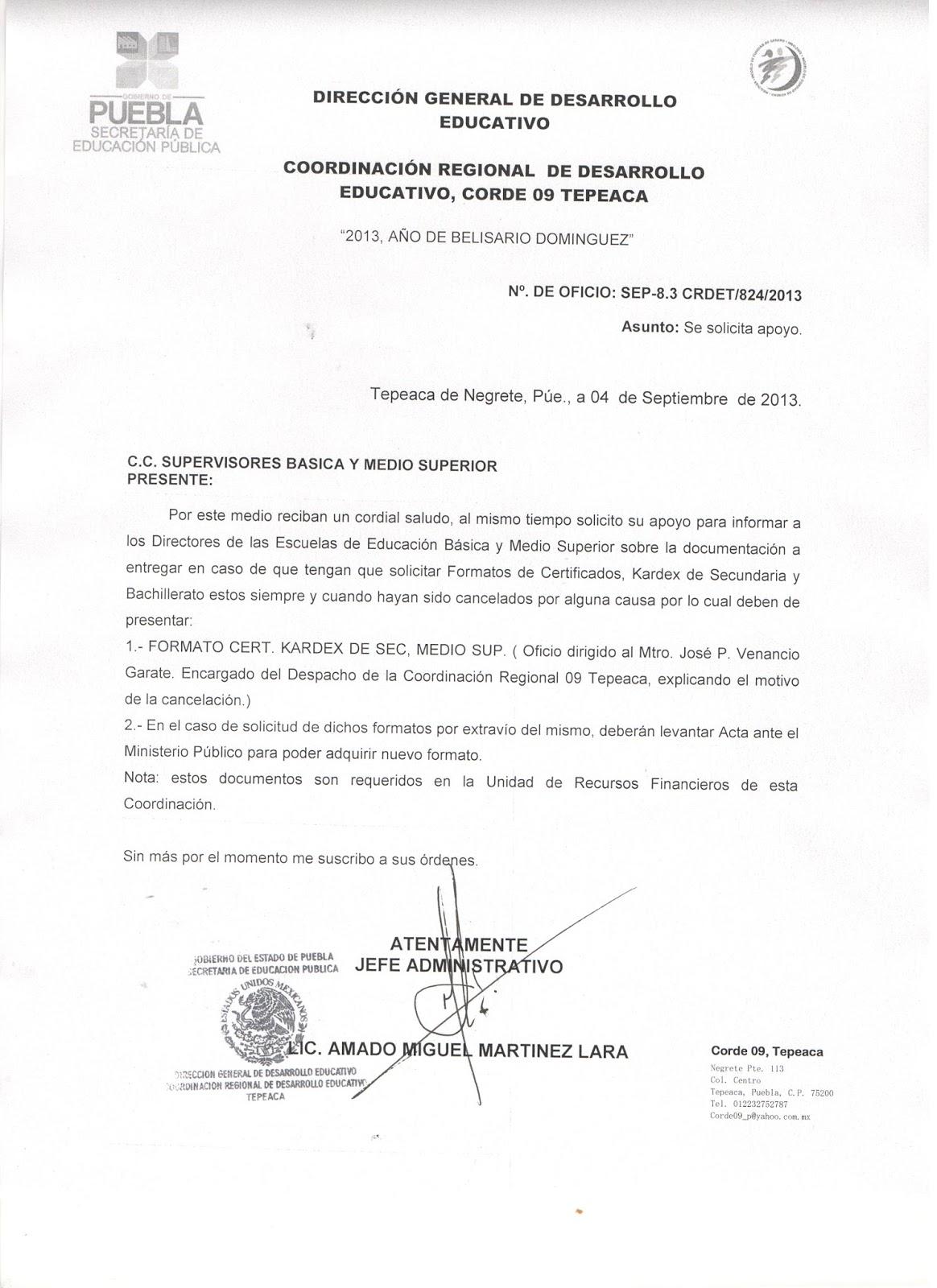 Escuelas Secundarias Tecnicas de Puebla: Formato Kardex secundaria y ...