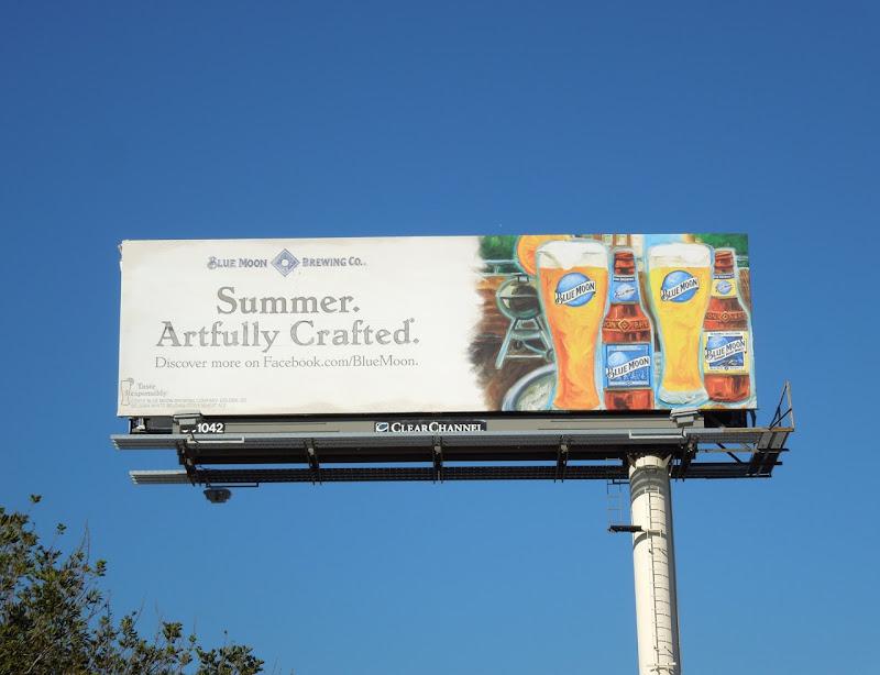 Blue Moon Beer Summer Artfully crafted billboard