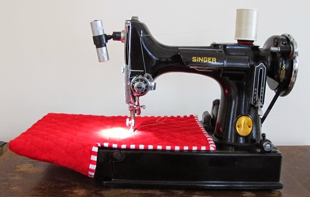 featherweight sewing machine cover pattern
