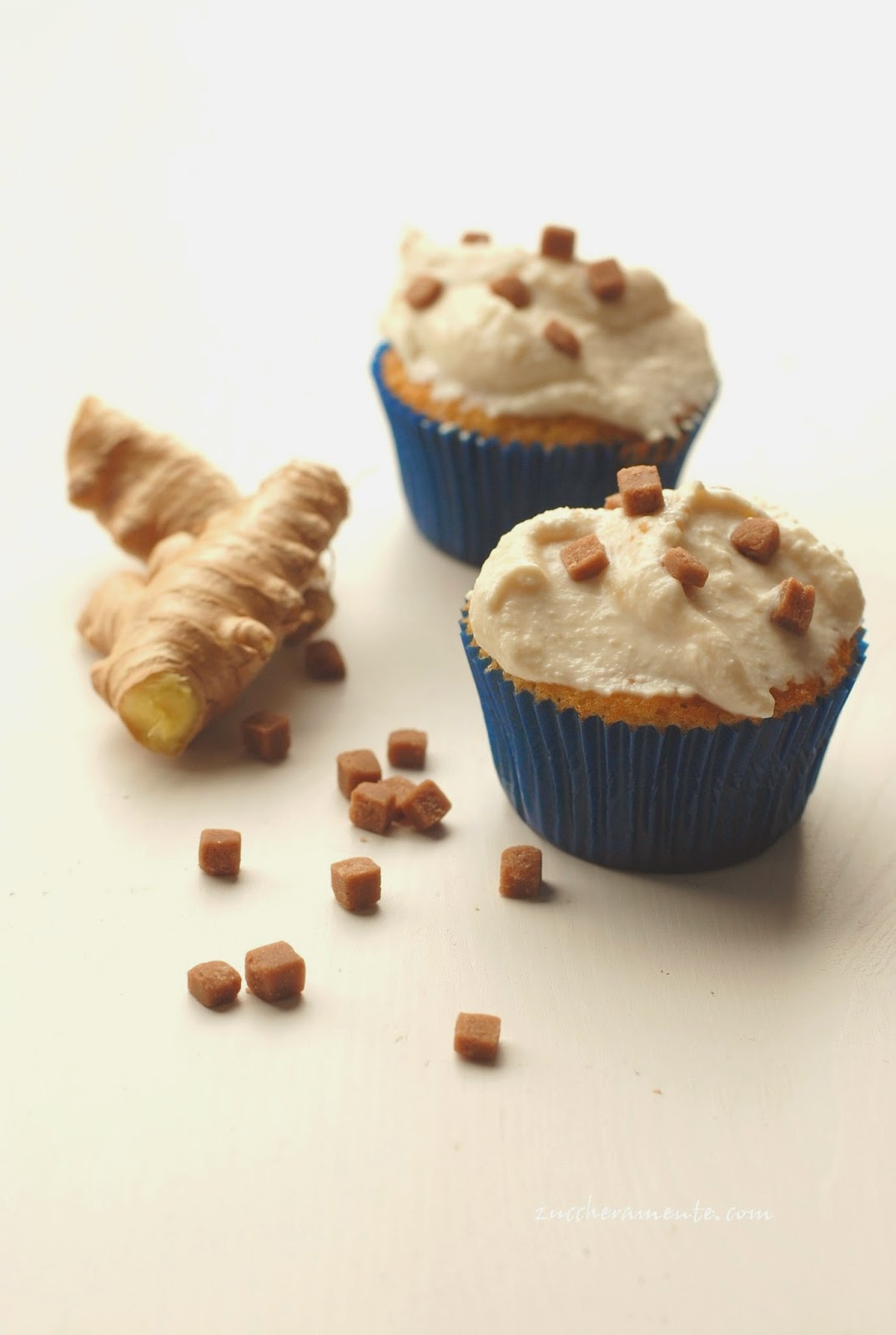 muffin allo zenzero con ricotta e caramello morbido