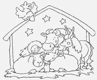 Nacimientos Navideños para Colorear, parte 3