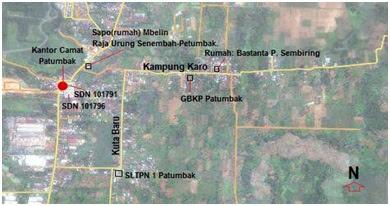 Peta yang menunjukkan Kampung Karo-Patumbak