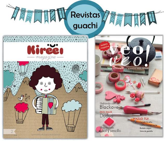 revistas Kireei y veo veo, manualidades en español