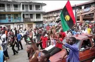 Biafra: IPOB members embarrassing Buhari at UN General Assembly in US.
