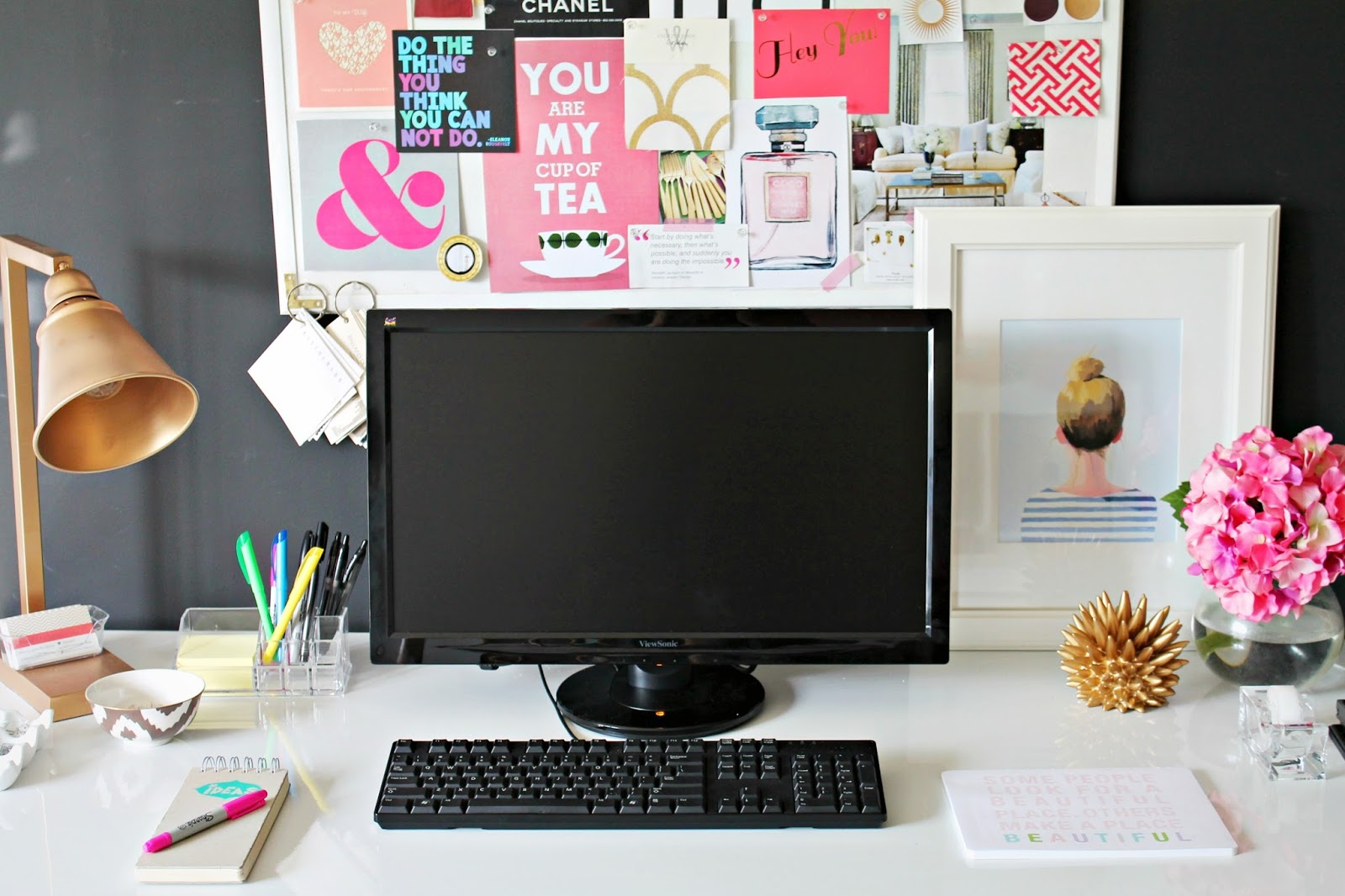 office desk decoration. Delighful Office PROJECT OFFICE Inspiration Board And Desk Update On Office Decoration
