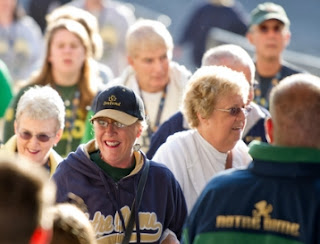 Notre Dame fans thronged Dublin over the weekend 