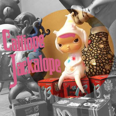 "Circus Posterus x Tomenosuke ""Candy"" Edition Calliope Jackalope Vinyl Figure by Kathie Olivas"
