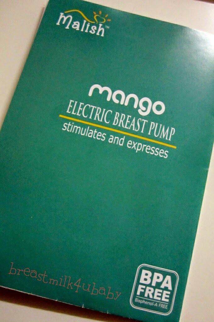 Malish Mango Portable Auto Single Electric Battery Powerbank Breast Pump Breastpump Pam Susu Manual Book Instruction
