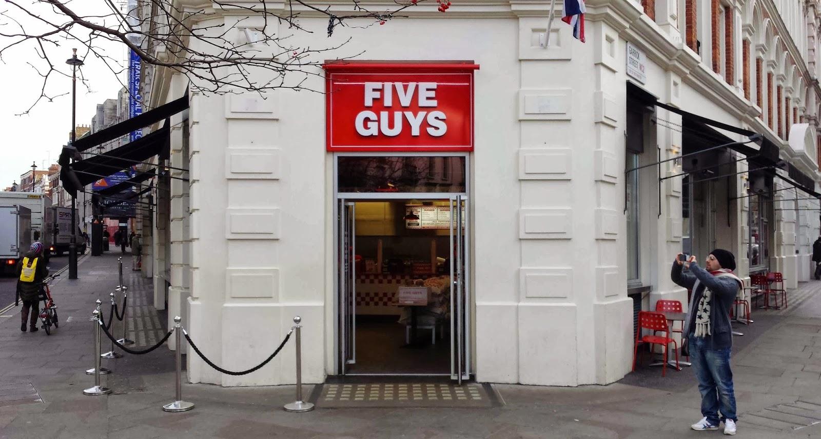 Five Guys, Covent Garden, London Burger Review