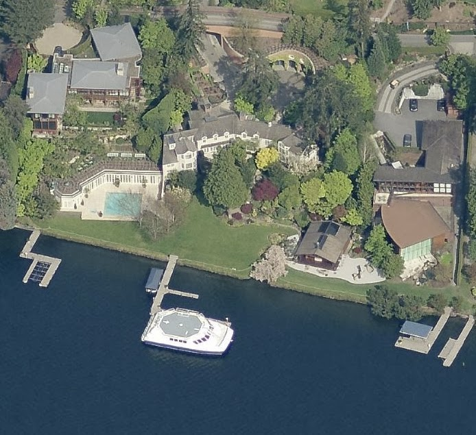 Paul Allen House Mercer Island Address