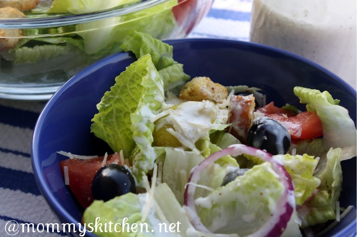 ... Texas Kitchen: Olive Gardens House Salad & Dressing {Potluck Sunday
