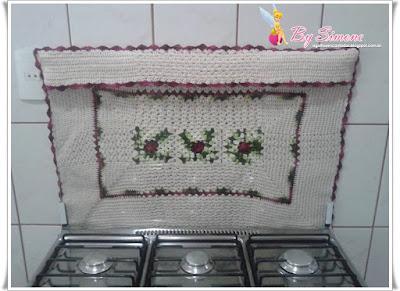 Capa de fogão em crochê!