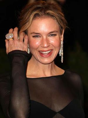 Renee Zellweger Diamond Chandelier Earrings