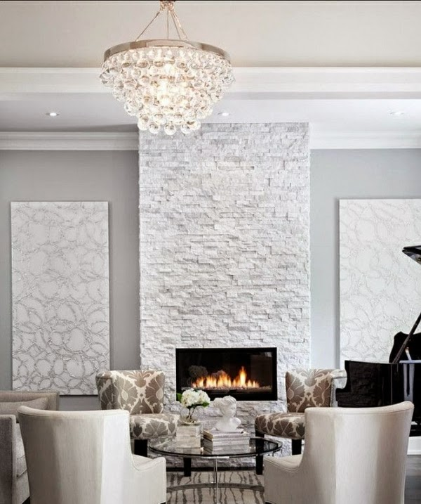 Fotos de salas con paredes de piedra salas con estilo - Paredes modernas para interiores ...