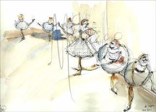 Bailarinas de Degas, apunte. 2011. Mcchueco