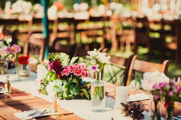 casamento jardim simples : casamento jardim simples:tatezilla: Centros de mesa Rústicos ou Vintage