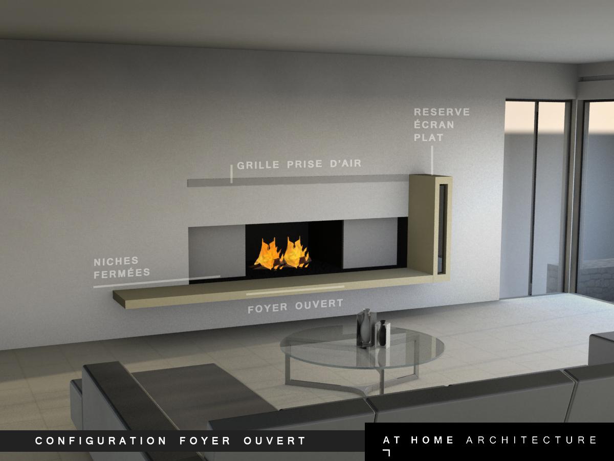 Designer d 39 espace graphiste 3d architectural combi tv chemin e r tro projecteur gordes At home architecture gordes 84