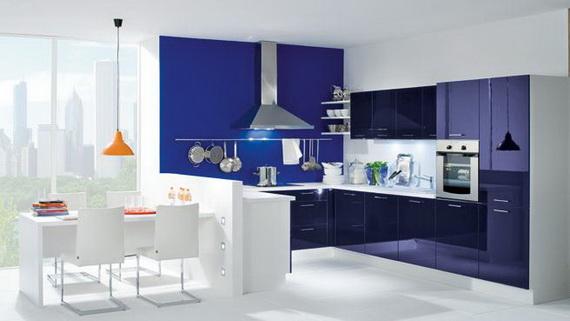 Deco chambre interieur moderne id es bleu de d cor de cuisine for Cuisine moderne bleu