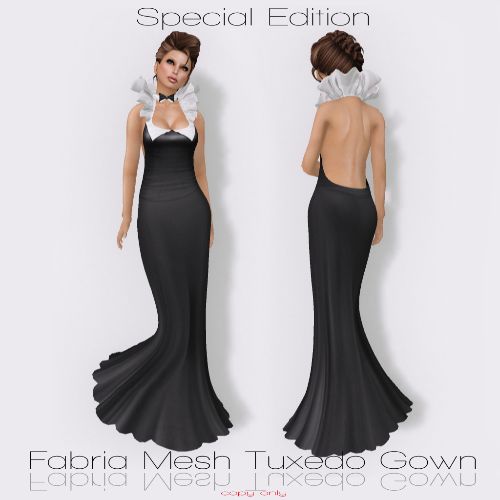 Rebel Hope Designs: New Fabria Mesh Tuxedo Gown Special Edition