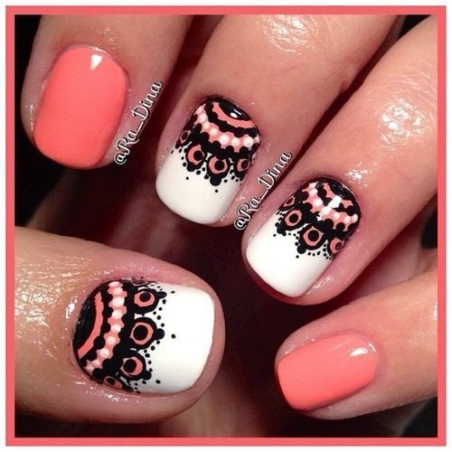 Lace Nail Art Ideas