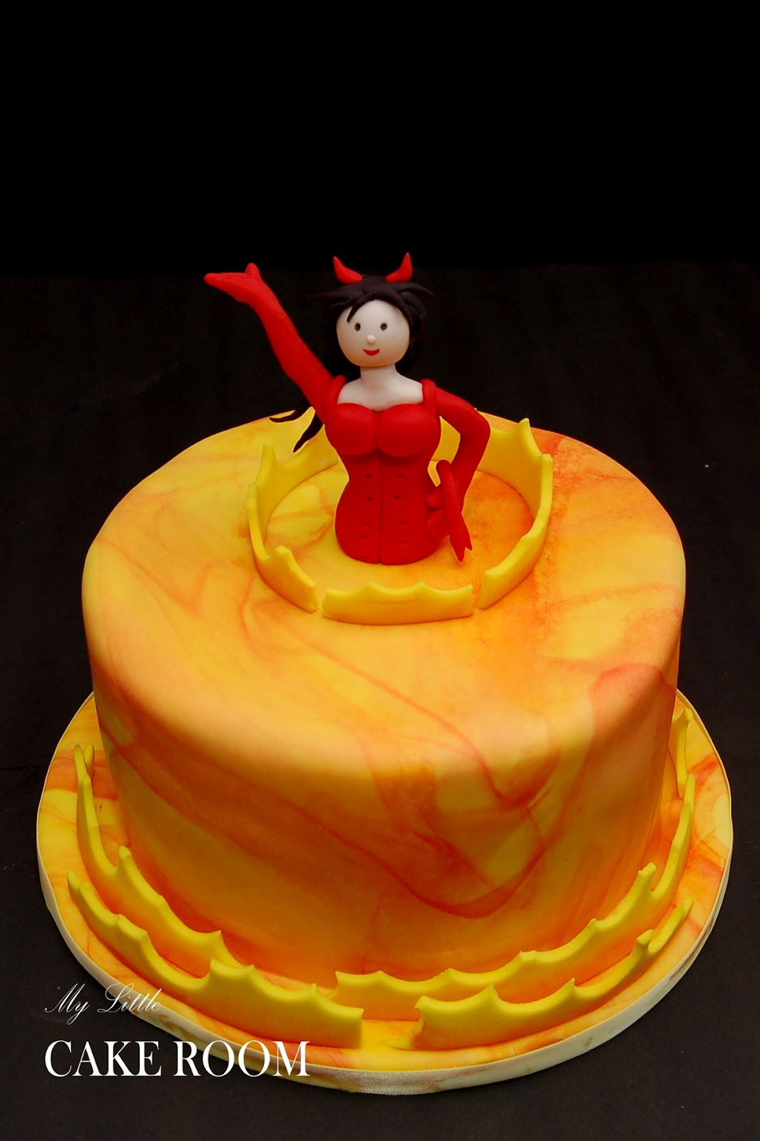 My Little Cake Room Red Hot Devil For A 40th