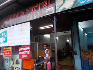 """Azad Hotel""  on Ernakulam Market road ."