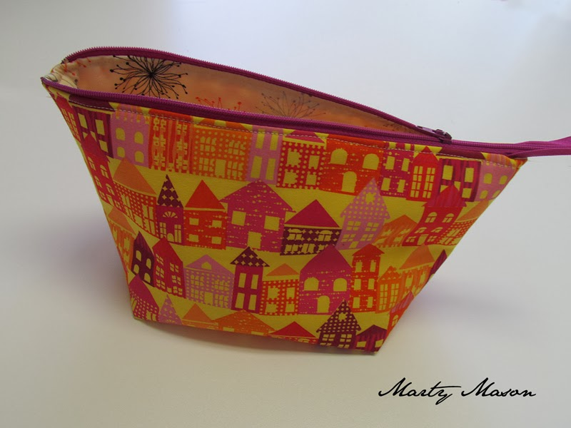 wide-mouth zippered pouch made by Marty Mason