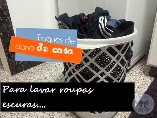 Como lavar roupas pretas e escuras