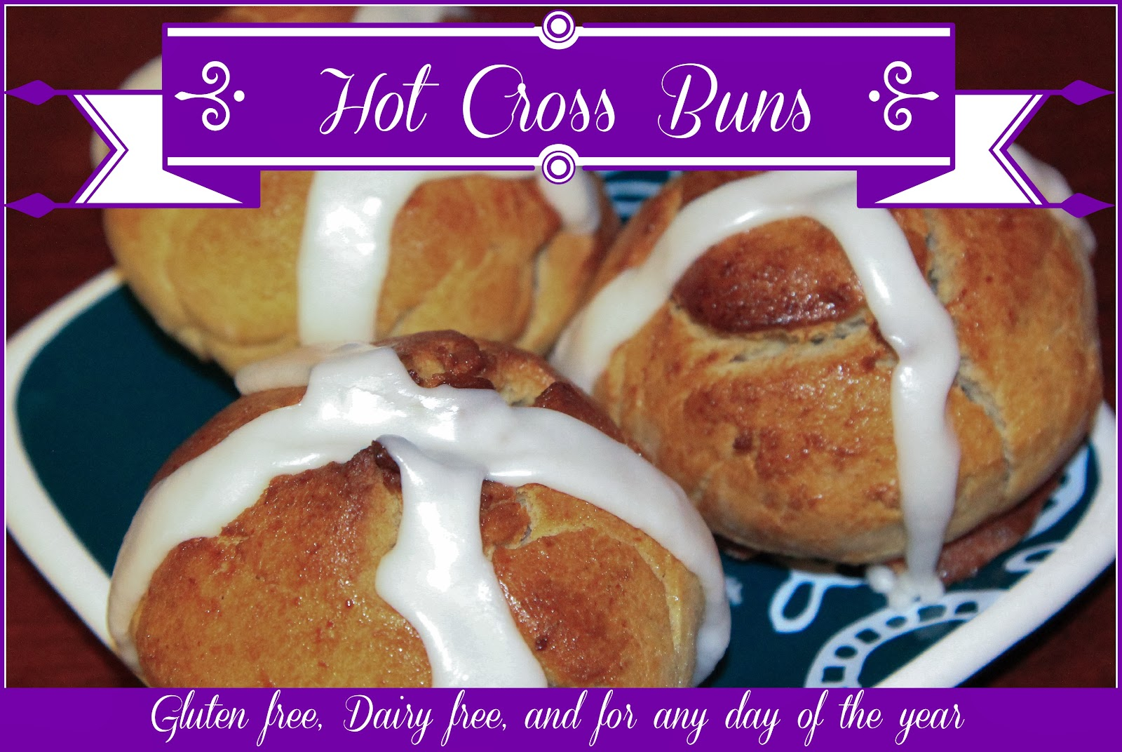 gluten free dairy free cinnamon hot cross buns