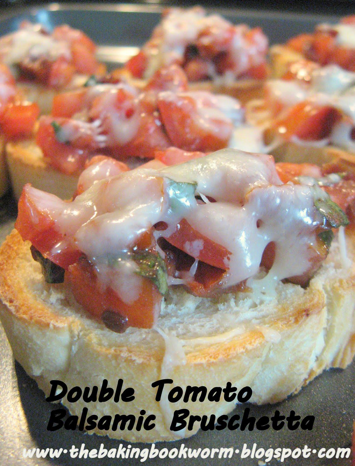 The Baking Bookworm: Double Tomato Balsamic Bruschetta