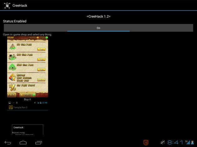 CreeHack v1.2 : Hack In App Berbayar di Android PlayStore