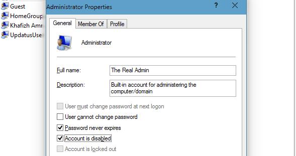 Cara Menghapus/Menonaktifkan Akun Administrator Pada Windows